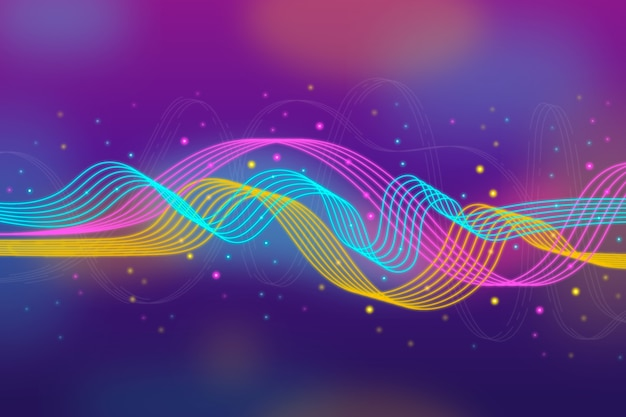 Fondo de onda ecualizador colorido