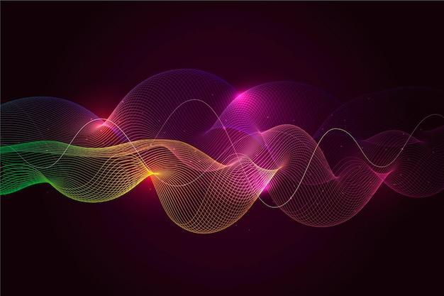 Fondo de onda de ecualizador colorido