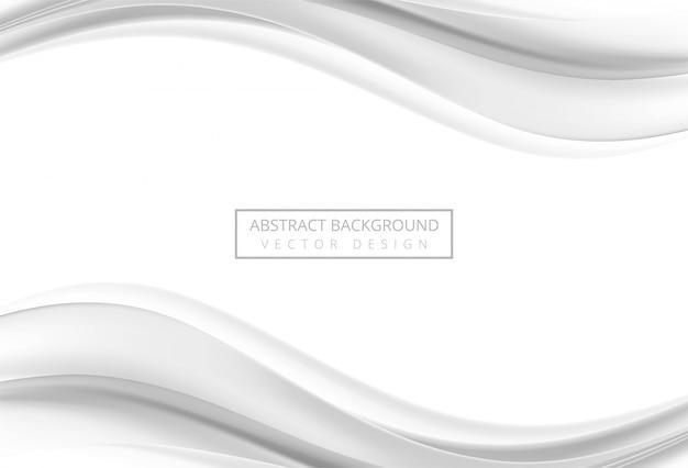 Fondo de onda elegante gris abstracto