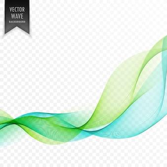 Fondo de onda elegante verde y azul