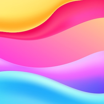 Fondo de onda fuild colorido