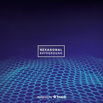 Fondo de onda hexagonal