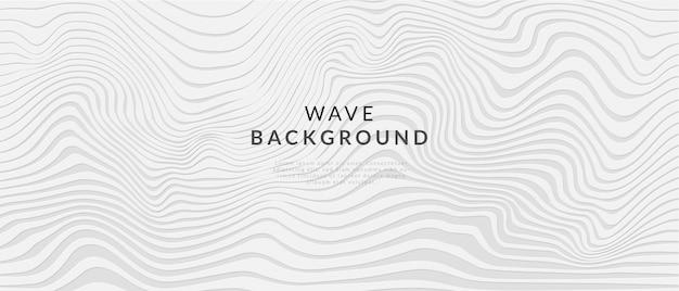 Fondo de onda de línea blanca abstracta