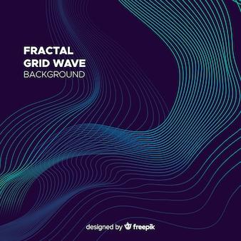 Fondo de onda mallada fractal