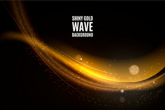 Fondo de onda de oro brillante