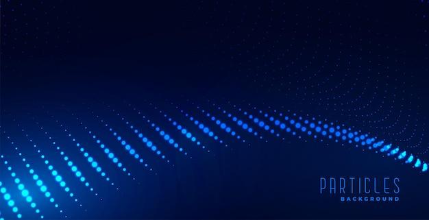 Fondo de onda de partículas azules digitales