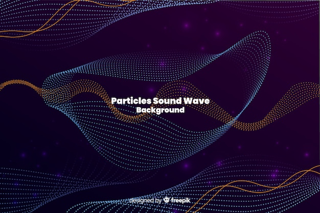 Fondo onda partículas de sonido