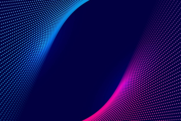 Fondo de onda punteada tecnología colorido abstracto