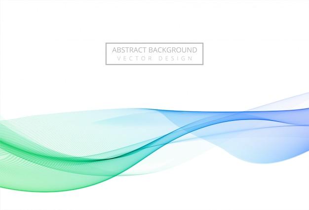 Fondo de onda que fluye con estilo colorido moderno