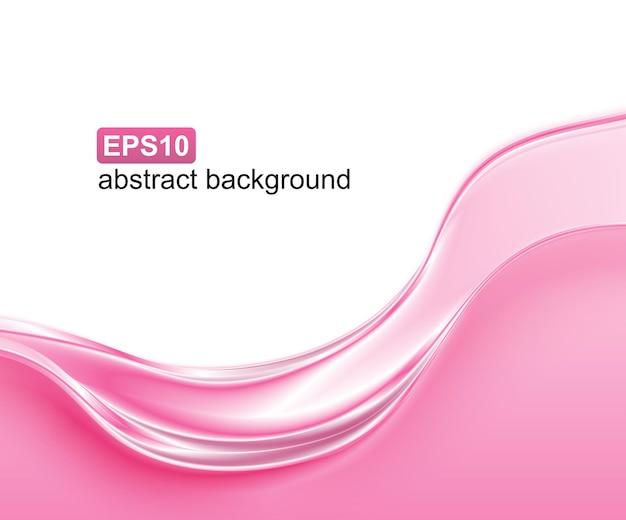Fondo de onda rosa abstracta.