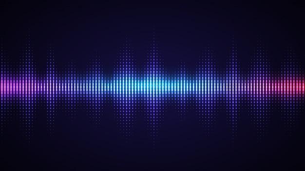 Fondo de onda de sonido