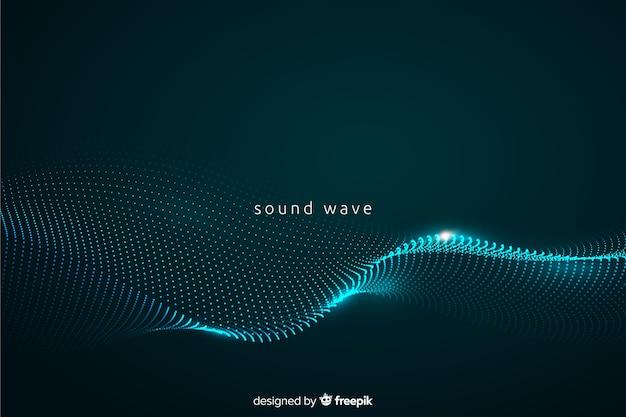Fondo con onda de sonido