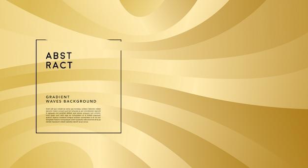 Fondo de ondas de degradado dorado