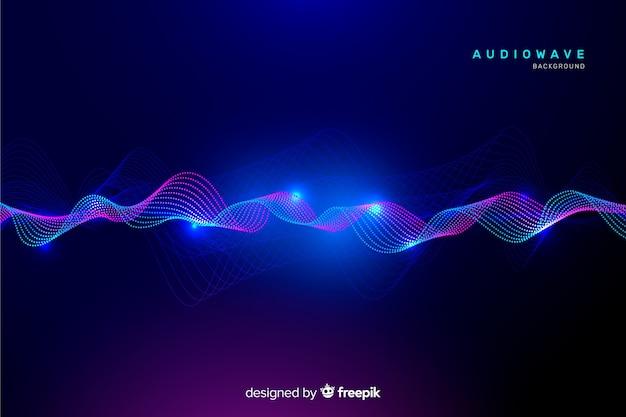 Fondo ondas de ecualizador abstractas