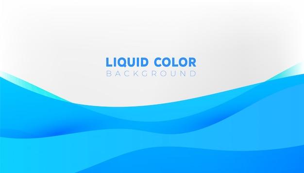Fondo de ondas de gradiente líquido plástico