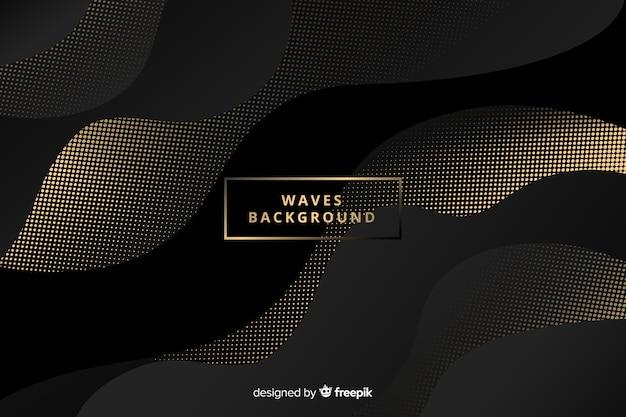 Fondo ondas oscuras con puntos