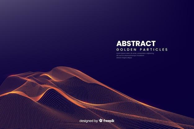 Fondo con ondas de partículas digitales abstractas