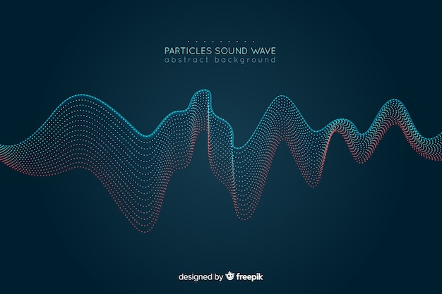 Fondo con ondas sonoras