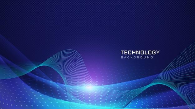 Fondo de ondas de tecnología abstracta