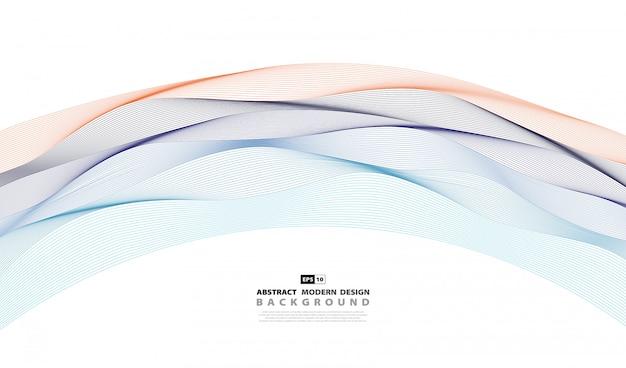 Fondo ondulado abstracto de la cubierta del modelo colorido.