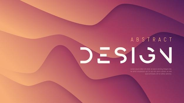 Fondo ondulado abstracto, diseño futurista minimalista de moda con textura de ruido. muestras globales.