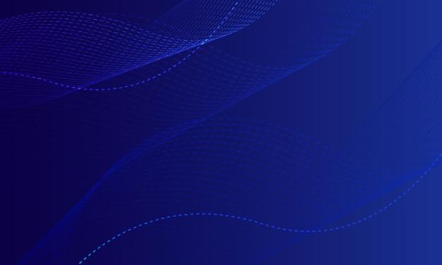 Fondo ondulado azul abstracto con onda de línea transparente