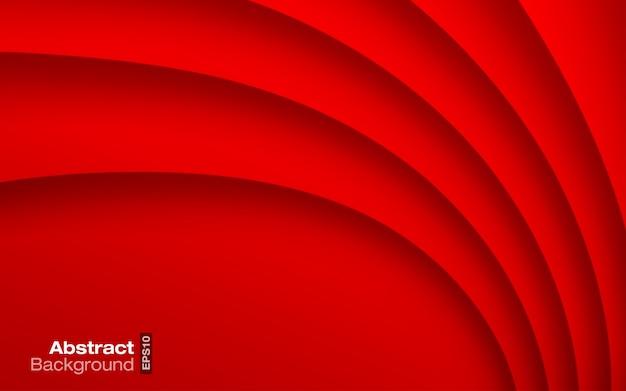 Fondo ondulado de color rojo brillante. tarjeta de visita.