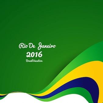 Fondo ondulado de colores de brasil