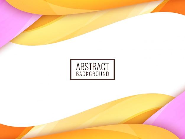 Fondo ondulado colorido abstracto
