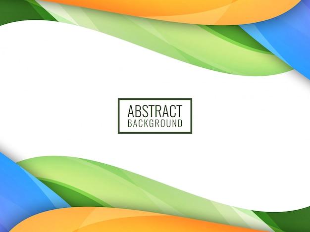 Fondo ondulado colorido brillante abstracto