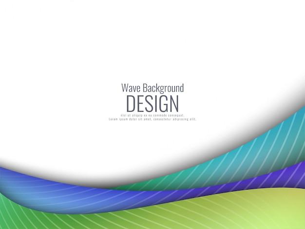 Fondo ondulado colorido elegante abstracto
