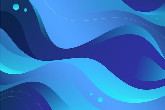 Fondo ondulado degradado azul