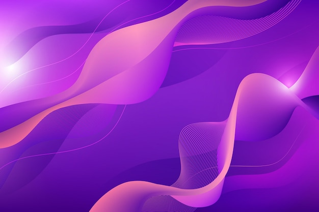 Fondo ondulado degradado púrpura