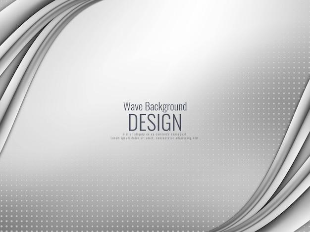 Fondo ondulado gris elegante abstracto