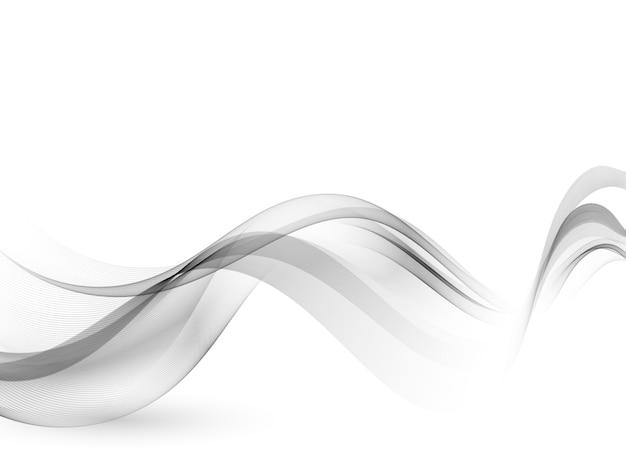 Fondo ondulado gris flujo de onda gris