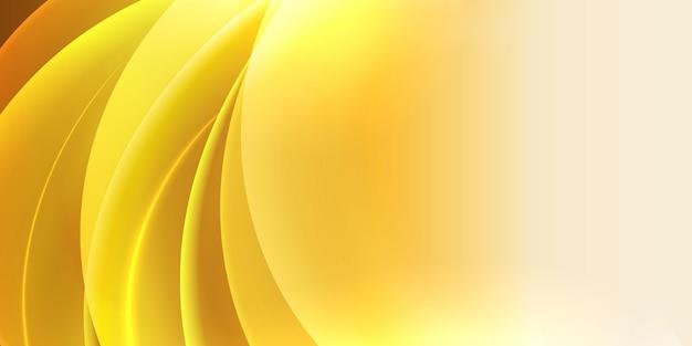 Fondo ondulado de luz amarilla