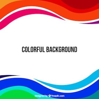 Fondo ondulado multicolor