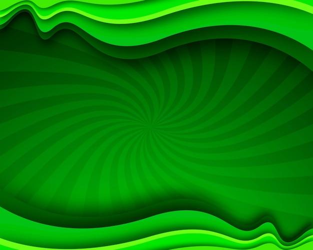 Fondo ondulado de negocios con estilo verde moderno