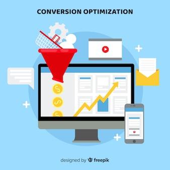 Fondo optimización márketing