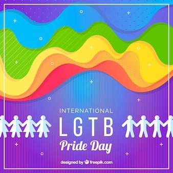 Fondo de orgullo lgbt con colores y formas