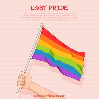 Fondo de orgullo lgbt con muchos colores