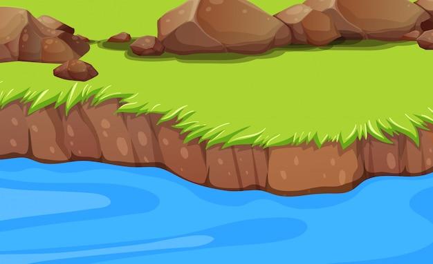 Un fondo de la orilla del río
