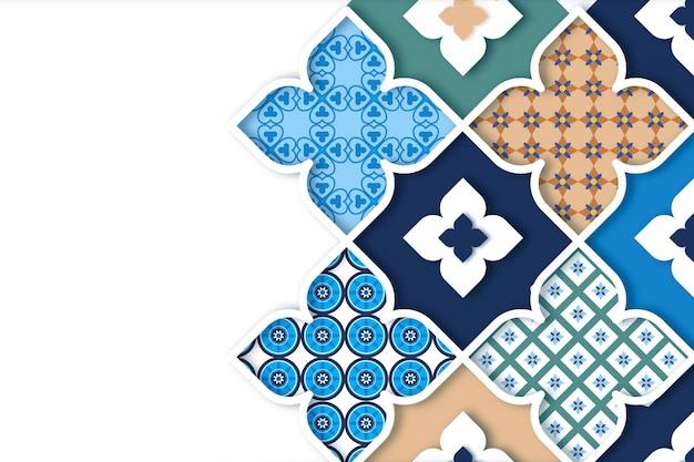 Fondo ornamental árabe en estilo papel