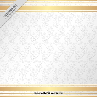 Fondo ornamental blanco