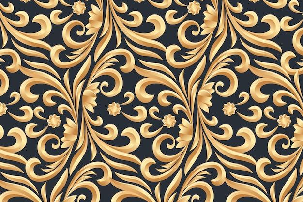 Fondo ornamental dorado floral