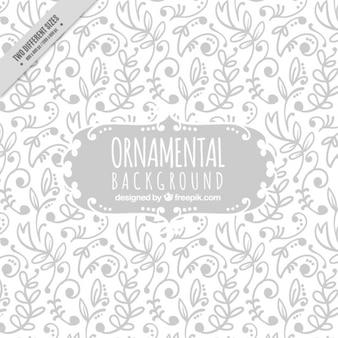 Fondo ornamental de hojas dibujadas a mano