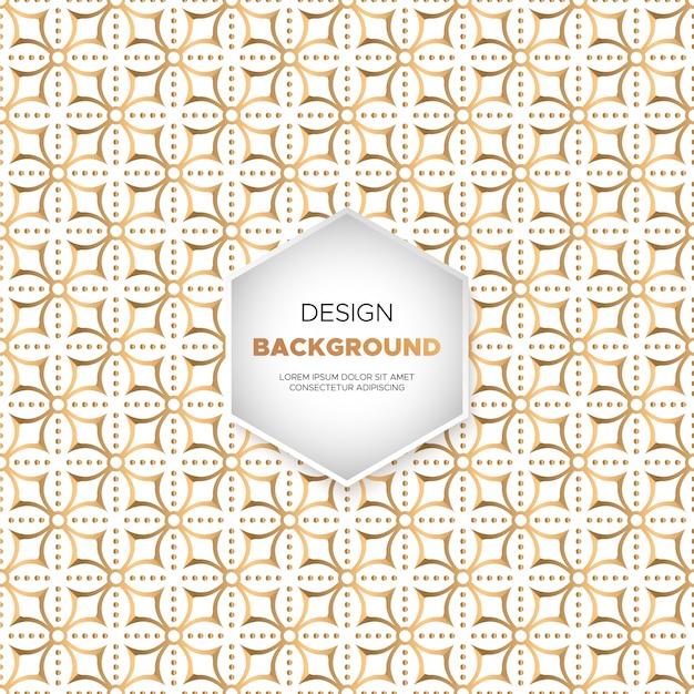 Fondo ornamental de lujo con diseño de mandala en color dorado.