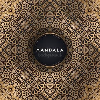 Fondo ornamental de lujo diseño de mandala