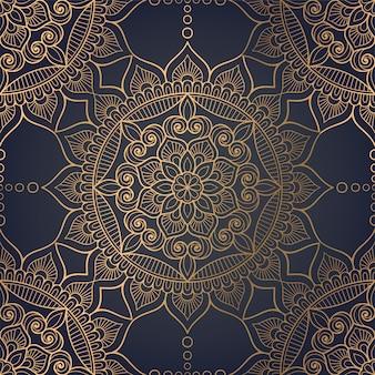 Fondo ornamental de lujo mandala
