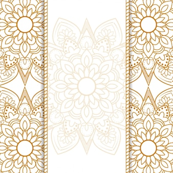 Fondo ornamental de mandala vector gratuito